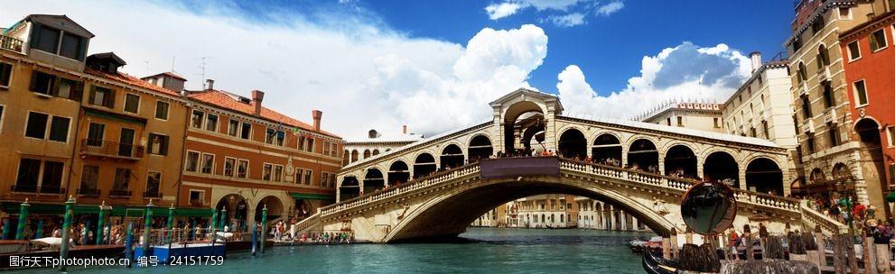 意大利威尼斯河道景观